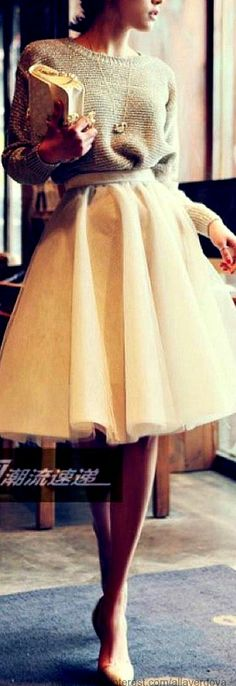 Oh my I love this!!! Thanks @Gina Gab Solórzano Rodriguez I did order another white skirt foe mod cloth on cyber Monday but I love this with the tulle! Gorg!
