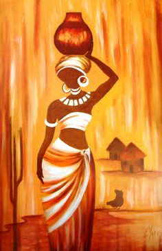 African Woman Original Oil Painting Available Directly From Artist - African Art Painting African Artwork, African Art Paintings, African Prints, African Fabric, African American Art, African Men, African Attire, African Style, African Dress