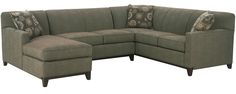 It's getting very hard to find a nice tight-back sofa or sectional like this one. I like the tight-back style because the back cushions won't sag over time.