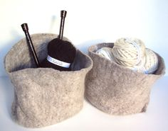felted baskets. These are going to happen.