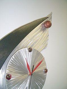 contemporary clock, wall clock, wall art clock, metal clock, new wave clock