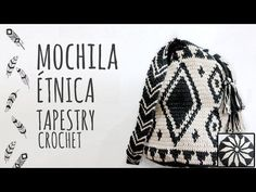 Learn how to crochet this ethnic bag, inspired with the wayuu bag. Using the tapestry crochet technique. Crochet Bag Tutorials, Crochet Diy, Crochet Videos, Crochet Projects, Crochet Handbags, Crochet Purses, Mochila Tutorial, Mochila Crochet, Tapestry Crochet Patterns