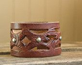 brown leather cuff ... TO BE CUSTOMIZED