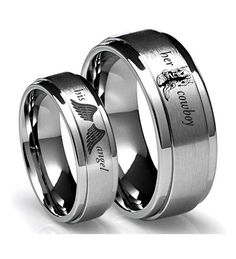 His & Hers  #rings #couples #country #love #cowboy&angle