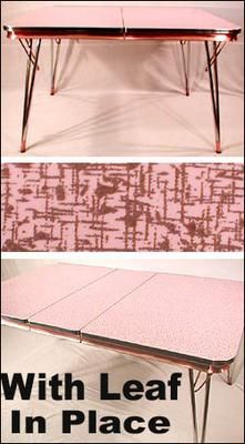 Pink Formica Diner Table