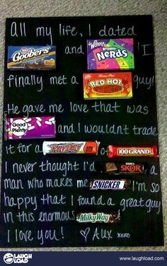 What a sweet love letter