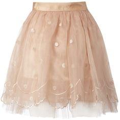 Lipsy Embroidered Tutu Skirt - Lipsy, found on #polyvore. #skirts