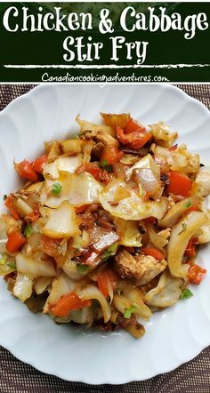 Chicken Cabbage Stir Fry recipes for two recipes fry recipes Teriyaki Chicken, Garlic Chicken Stir Fry, Pork Stir Fry, Ground Beef And Cabbage, Chicken And Cabbage, Dinner With Ground Beef, Chicken Cabbage Stirfry, Vegetarian Stir Fry, Healthy Stir Fry