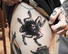 woodcut tattoo of the demon Buer - Ien Levin ink! Future Tattoos, Love Tattoos, Beautiful Tattoos, Black Tattoos, Body Art Tattoos, New Tattoos, Dark Tattoo, Tattoo You, Satanic Tattoos