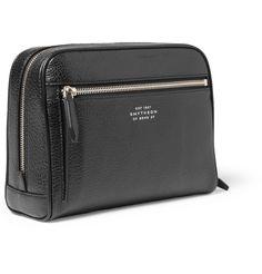 Smythson Full-Grain Leather Wash Bag