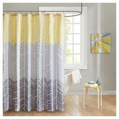 Shower Curtain   Yellow   (72X72)