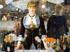 [] A Bar at the Folies-Bergere | by Edouard Manet | Collection: Courtauld Institute of Art, London, UK