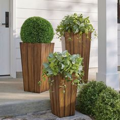 Fill outdoor planters with colorful blooms to transform your backyard or patio. Find large planters, urn planters, window boxes and more at Grandin Road. Tall Planters, Indoor Planters, Diy Planters, Large Wooden Planters, Garden Planters, Wood Planter Box, Container Gardening Vegetables, Succulent Containers, Garden Types