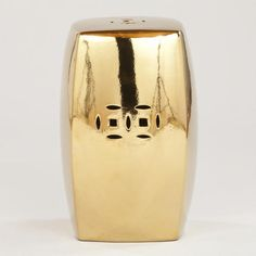 One of my favorite discoveries at WorldMarket.com: Gold Lotus Ceramic Stool