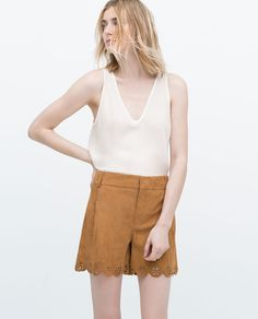 Image 1 of WRINKLED FABRIC T-SHIRT from Zara