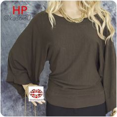 "⭐️HP⭐️SILK LIGHT SWEATER Max Studio Gorgeous beautifully design army green light sweater. 3/4 batwing sleeves. Very soft, shimmering  and stretchy (35%silk, 33%nylon, 2%spandex) Ribbed sleeves opening, neck and  waistline. Size S but anybody from 0-8 will look flattering in it. Length: 22"". Armpit to armpit 15"" (with stretch +5 inches). This color goes great with gold or maroon☺️. Excellent condition Max Studio Sweaters Crew & Scoop Necks"