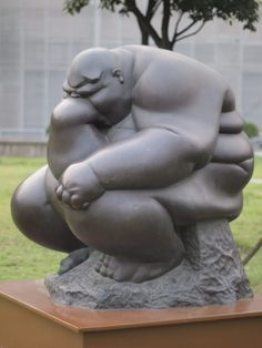 """Fat Thinker"" Shanghai Sculpture Space by HeyItsWilliam"