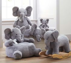 Little ones can go on a make-believe jungle adventure with our superplush elephant rocker. Sweet and huggable, it features solid wood handle...