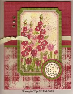 Ruby Garden by Carole Richardson - Cards and Paper Crafts at Splitcoaststampers Red Crafts, Paper Crafts, Sympathy Cards, Greeting Cards, Old Stamps, Card Sketches, Spring Garden, Color Card, Flower Cards