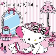 Charming Kitty is that a little sister kitty holding mirror for big sister?  xoxoxo
