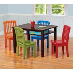 Costco Chocolate Brights Table 4 Chairs On Sale For 159 99