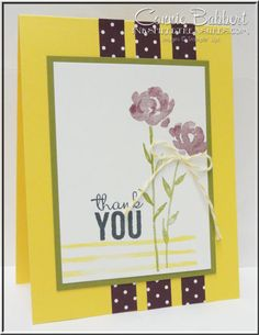 Connie's CAS card featuring Painted Petals by Stampin' Up!