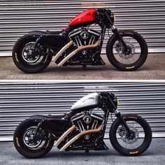 Harley Davidson News Sportster Motorcycle, Custom Sportster, Bobber Bikes, Custom Bobber, Cafe Racer Bikes, Cool Motorcycles, Custom Bikes, Speedway Motorcycles, Kids Motorcycle