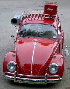 Mint VW Bug Red Aircooled Roof Rack