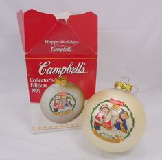 Campbell's Kids Collectors Edition #Christmas Ornament 1999 2000 #CampbellsSoup #Collectible www.grammysbargains.com Click for details.