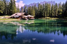Lago Ghedina Cortina d'Ampezzo Belluno Dolomiti Veneto Italia foto Angelo Ferraris