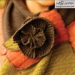 Indygo Junction's Fabric Flowers pattern book by Amy Barickman and Indygo Junction.
