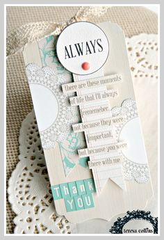 TERESA COLLINS DESIGN TEAM: Thank you and Congratulations tags by Cheri Piles using the Memories collection