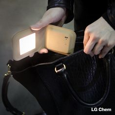 The Portable Leather Lamp by O'CLESS with LG Chem 53x55mm OLED panel can be taken anywhere with its rechargeable capabilities.  www.lgoledlight.com  #LGChem #OLED #light #Portable #lamp