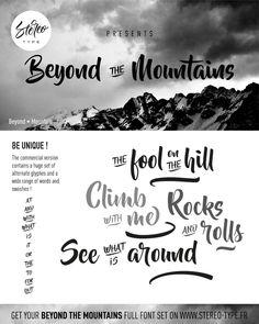 Beyond The Mountains | dafont.com