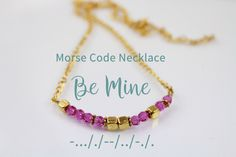 Morse Code Jewelry necklace. Perfect Valentine's Day gift idea. Get it now! :)