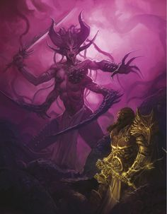 http://wellofeternitypl.blogspot.com/ Age of Sigmar Artwork | Sigmar vs Slaanesh…