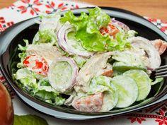 Salată regală: extraordinar de gustoasă! Healthy Salad Recipes, Low Carb Recipes, Salad Bowls, Fresh Rolls, Lettuce, Food Videos, Potato Salad, Healthy Lifestyle, Food And Drink