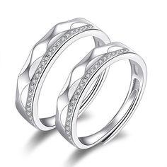 Original 925 Silver Couple Rings