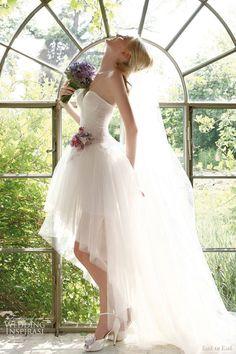 Short dress, long veil