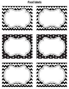 FREE printable black-and-white labels | Cupcake Express: