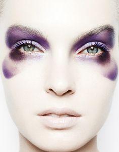 purple eyeshadow; animal #hair #beauty #makeup