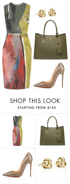 """s"" by heliaamado on Polyvore featuring moda, Cédric Charlier, Prada e Blue Nile"