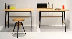 "The Portable Atelier collection, designed by Philippe Nigro, created in partnership with Moleskine and presented in preview at Imm Cologne last January, includes a line of desk furnishings and accessories, created with the idea of making a ""nomadic"" study and/or workstation. These simple elegant objects were designed to define and customise our personal workspace and turn it into an inspiring journey. The desk have a light look: a top in birch plywood with oak finishing with a flap door…"