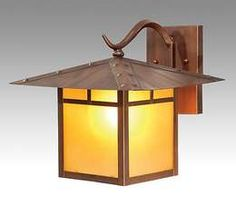 Hand-Made Arts & Crafts Porch Light/Sconce | Antique Lamp Supply