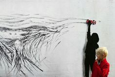 Drift: A Mural Tribute to Edvard Munch Created with Tire Tracks from a Toy Vehicle | Junkculture