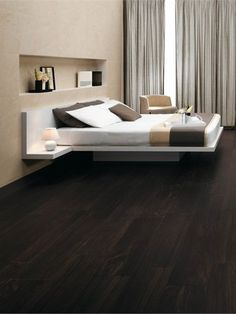 Porcelain stoneware wall/floor tiles with #wood effect ETIC by Ceramiche Atlas Concorde #bedroom #parquet