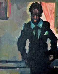 Ruth Franklin, Brixton Boy  acrylic on canvas, 18 x 14 inches, sold