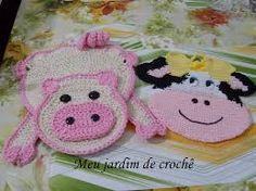 Resultado de imagem para pegas em crochet