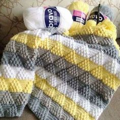 Crochet Toys - Woven / Moss Stitch / Stitch - Crochet Clothing and Accessories Baby Knitting Patterns, Afghan Crochet Patterns, Baby Patterns, Free Knitting, Crochet Stitches For Blankets, Knitted Baby Blankets, Baby Blanket Crochet, Chevron Baby Blankets, Knit Stitches