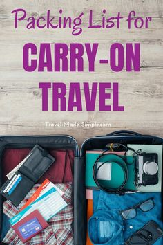 Are you wondering what to pack for a trip? My travel packing checklist for carry-on only will help you take what you need and leave behind what you don't. Get the carry-on only packing list here! Travel Packing Checklist, Carry On Packing, Packing Tips, Travel Essentials, Travel Necessities, Traveling Tips, Air Travel Tips, Travel List, Travel Trip